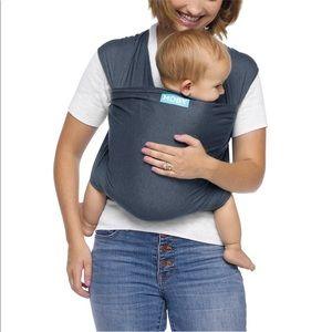 Authentic Moby wrap carrier, grey color